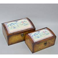 """Комплект шкатулок для хранения мелочей """"Dream"""" 04188, дерево, в наборе 2 штуки, 13х25х17 см / 11х21х10 см, шкатулка под украшения, шкатулка из дерева, фото 1"""