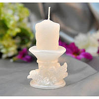 Свеча для декора Syringa белая, декоративные свечи, свечки