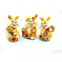"""Статуэтка декоративная для интерьера """"Кролик"""" 6829, керамика, 3 вида, фигурка декоративная, статуэтка для"""