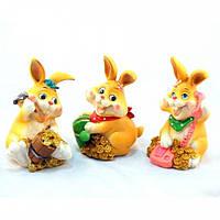 """Статуэтка декоративная для интерьера """"Кролик"""" 6832, керамика, 3 вида, фигурка декоративная, статуэтка для"""