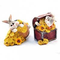 """Статуэтка декоративная для интерьера """"Кролик"""" 6845, керамика, 2 вида, фигурка декоративная, статуэтка для"""