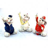 """Статуэтка декоративная для интерьера """"Кролик"""" 6952, керамика, 3 вида, фигурка декоративная, статуэтка для"""