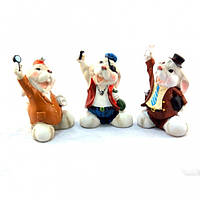 """Статуэтка декоративная для интерьера """"Кролик"""" 6953, керамика, 3 вида, фигурка декоративная, статуэтка для"""