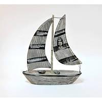 Корабль декоративный для сувенира Garrya разные цвета, 30х25х5см, дерево, морская тематика, морские сувениры,, фото 1