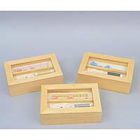 Декоративная шкатулка для хранения ниток Agapetes прямоугольная, бежевая, шкатулка для ниток, шкатулка, фото 1