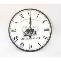 "Часы настенные для декора ""Сhateau Canet"" B0089, размер 40 см, дерево, часы для дома, часы на стену, часы, фото 1"