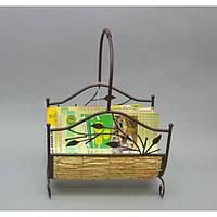 Газетник B1886, материал - металл, ротанг, размер - 50*34*24 см, изделия из ротанга и металла, декор для дома,