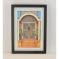 """Часы настенные для декора """"Summer Home"""" B812, размер 40х28х7 см, часы для дома, часы на стену, часы домашние"""