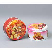 """Металлическая коробка для подарков """"Мишки"""" CF03414, 8*14 см, Металлические коробки для подарка, Коробка для"""