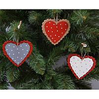 """Подвеска на елку """"Сердце"""" NG022, 9*10 см, MDF, Новогодние сувениры, Украшения новогодние, Игрушки на елку"""
