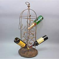 """Бутыльник для хранения напитков """"Nature"""" CH401, размер 79x30 см, на 6 бутылок, металл, подарочный бутыльник,"""