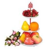 """Фруктовница металлическая для фруктов """"Mango"""" CH438, размер 37x21 см, корзинка для фруктов, ваза под фрукты,"""