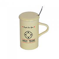"""Кружка керамическая для напитков """"Warm Sheep"""" CM013, размер 11.5х7 см, с крышкой, 4 вида, в коробке, кружка, фото 1"""