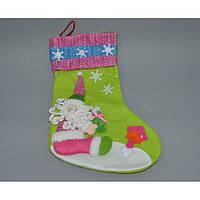 Новогодний носок для подарков CR1347, 39*27 см, Украшения новогодние, Новогодние сувениры, Праздничный декор, фото 1