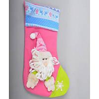 Новогодний носок для подарков CR1349, 38*28 см, Украшения новогодние, Новогодние сувениры, Праздничный декор