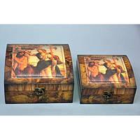 Набор декоративных шкатулок для хранения украшений Agave 2 шт, шкатулка для хранения, набор шкатулок