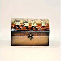"""Комплект шкатулок для хранения мелочей """"Wine"""" D0061, дерево, 2 штуки, 7.5x14.5x10 см / 10x18x13 см, шкатулка, фото 1"""