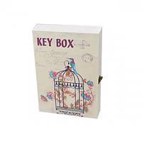 """Ключница настенная для ключей """"Key box"""" PR321, материал MDF, 2 вида, 30х20х5 см, ящик для ключей, сейф для ключей, шкафчик для ключей"""