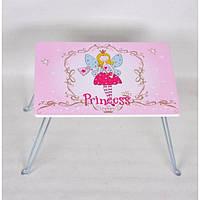 Универсальный детский столик для творчества Cussonia 32х40х29см, розовый, столик для девочки, детский столик
