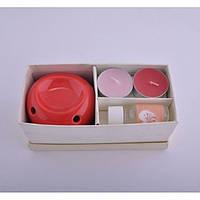 Подарочный спа набор для ароматерапии Curcuma аромалампа, свечи, масло, набор спа, набор для ароматерапии