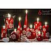 """Свеча для праздничного интерьера """"CHRISTMAS SNOW"""" S1396, пирамида, 50*150 мм, Столовые свечи, Свечки для Нового Года, Праздничные свечи"""
