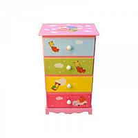Детский комод для хранения вещей Mirabilis разные цвета, 40х28х65см, на 4 ящика, комод детский, комод для, фото 1