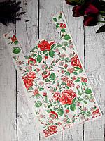 """Пакет майка """"Цветы"""" 30 x 55 см (уп-100 шт)"""