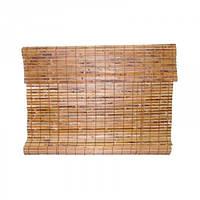 Штора бамбуковая для окна Mukdenia 80-180см, коричневая, бамбуковая штора на окно, штора бамбуковая