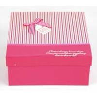 Подарочная коробка Galanthus набор из 3шт, розовая, картон, набор подарочных коробок, подарочные коробки, фото 1