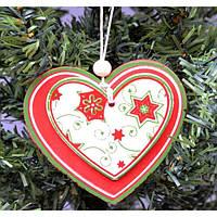 """Подвеска на елку """"Сердце двойное"""" KSN301, 8*8.5 см, МДФ, Новогодние сувениры, Украшения новогодние, Игрушки на елку"""