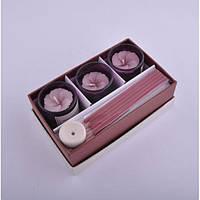 Подарочный спа набор для ароматерапии Cyanotis свечи, аромапалочки, набор спа, набор для ароматерапии