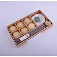 Подарочный спа набор для ароматерапии Cussonia свечи, аромапалочки, арома-конусы, набор спа, набор для
