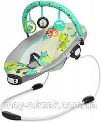 Детский шезлонг-качалка, музыкальная, с подвесками, Mastela, 68х51х64 см, 6313