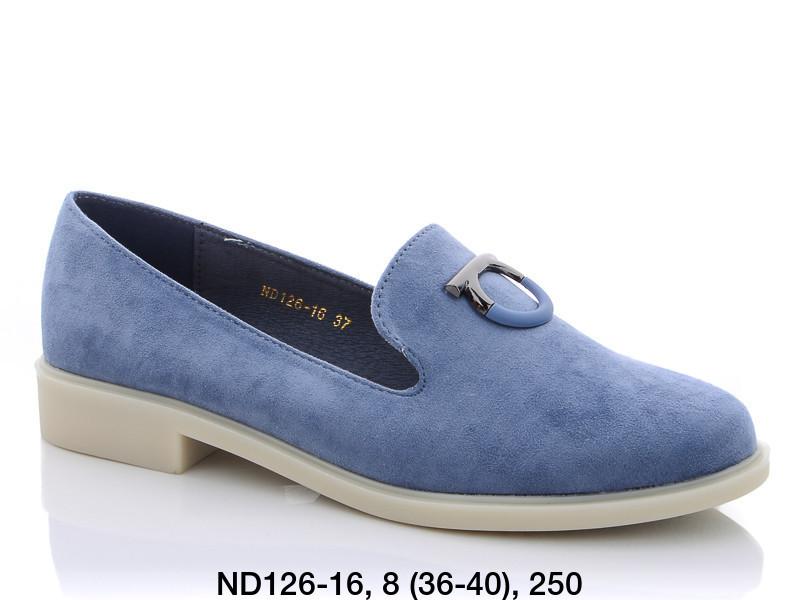 Туфли женские лоферы голубые Teetspace-Trasta-Egga-ND126-16