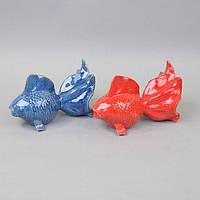 "Статуэтка декоративная для интерьера ""Рыбка"" YQ58602, керамика, 2 цвета, 16х22х10 см, фигурка декоративная, статуэтка для декора"