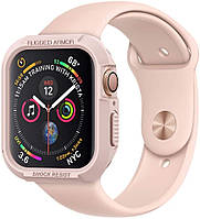 Чехол Spigen для Apple Watch 5/4 (44mm) Rugged Armor, Rose Gold (062CS24470)