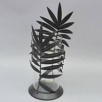 """Ваза декоративная для цветов """"Twighlight"""" TM069, металл / стекло, 42x12 см, ваза для декора, ваза под цветы, цветочная ваза"""