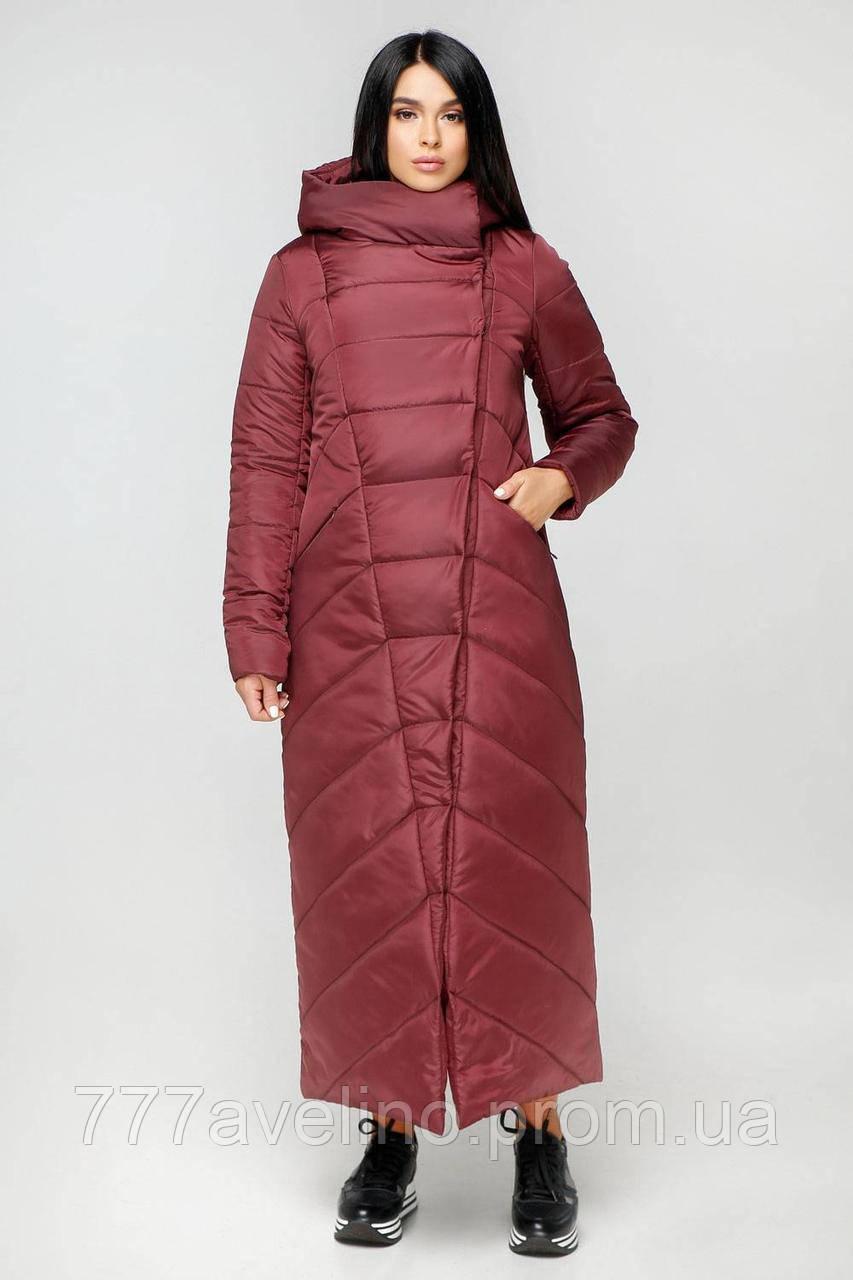 Женская зимняя куртка модная длинная