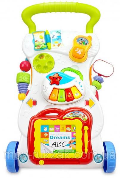 Детская каталка-ходунки, интерактивные, музыкальные, с игровой панелью, Huange, 40×34×40 см, HE0801