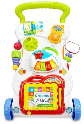 Детская каталка-ходунки, интерактивные, музыкальные, с игровой панелью, Huange, 40×34×40 см, HE0801, фото 2