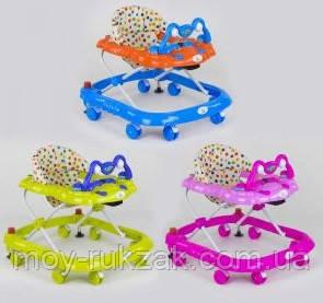 Детская каталка-ходунки, интерактивные, музыкальные, с игровой панелью, JOY, 5211, 3 цвета