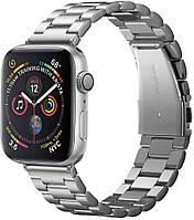 Металлический ремешок Spigen Modern Fit для Apple Watch 42 / 44mm Silver (062MP25404)