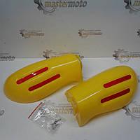 Защита рук на руль, желтые,  XJB, фото 1