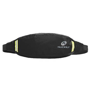 Сумка Nuckily PM10 Black спортивная на пояс для бега велоезды спорта