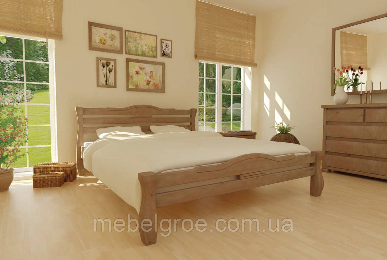 Деревянная двухспальная кровать 90 Монако тм Mebigrand