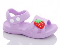 Кроксы босоножки детские Luck Line, цвет фиолетовый. Размер 24-29.