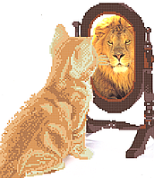 Сила льва. Схема вышивки бисером