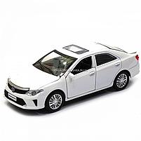 Машинка игровая автопром «Toyota Camry» Тойота, белая, металл, 14 см, (свет, звук, двери открываются) 7814, фото 3