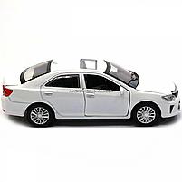 Машинка ігрова автопром «Toyota Camry» Тойота, біла, метал, 14 см, (світло, звук, двері відкриваються) 7814, фото 4