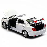Машинка игровая автопром «Toyota Camry» Тойота, белая, металл, 14 см, (свет, звук, двери открываются) 7814, фото 5